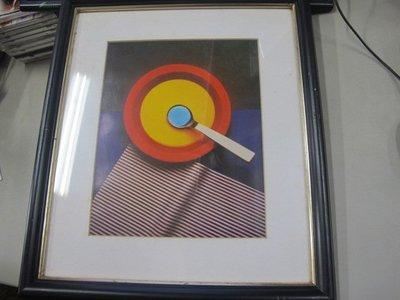 二手舖 NO.200 抽象藝術掛畫 畫框擺件 39.5 x 34公分