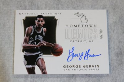 2017-18 大國寶 Hometown 家鄉英雄 Auto George Gervin 限量99張簽名卡~名人堂球星
