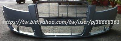 ※寶捷國際※ AUDI 2005 A6 前保桿 無大燈清洗孔/無雷達孔 4F0807105 台灣製造