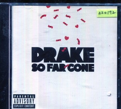 *還有唱片三館* DRAKE / SO FAR GONE 二手 ZZ0172 (封面底破)