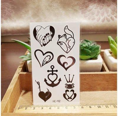 【萌古屋】綜合愛心 - 男女防水紋身貼紙刺青貼紙HC-412