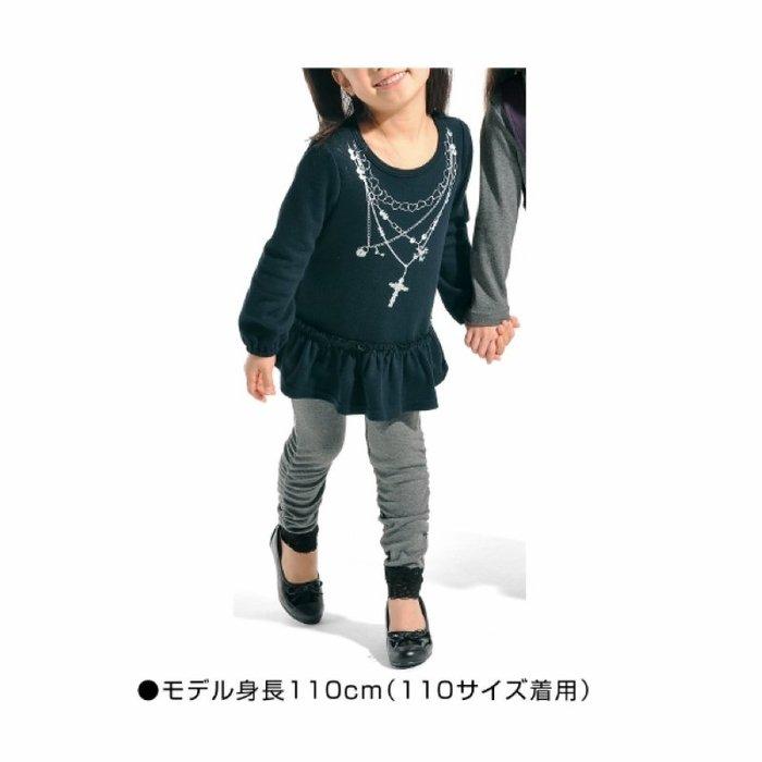 ❤厤庭童裝舖❤最後二件【E491】女孩黑色假項鍊上衣/T恤(130CM)