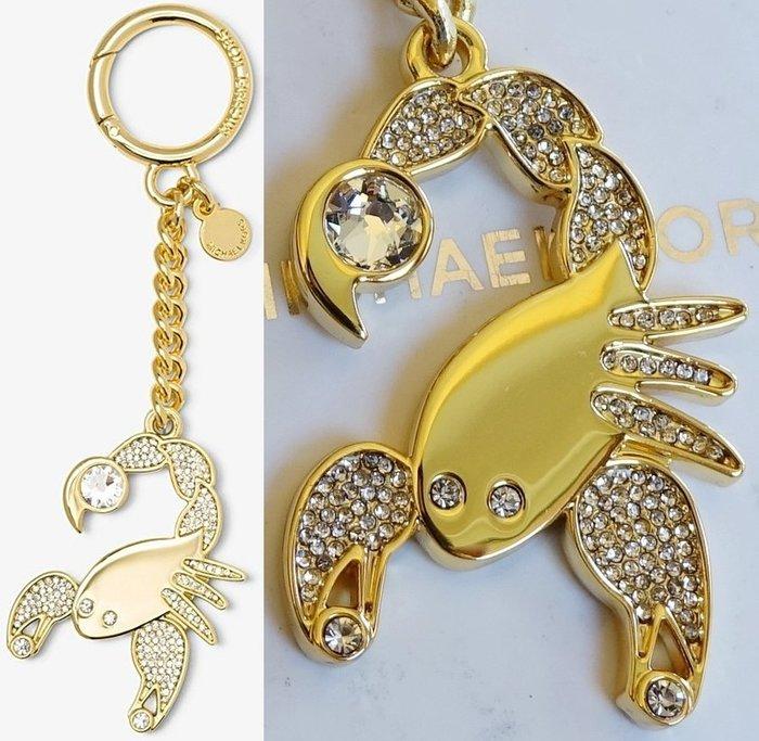 全新美國名牌 Michael Kors MK 金色鑲鑽金屬十二星座鑰匙圈系列 - 天蠍座,附禮盒,低價起標無底價!免運!