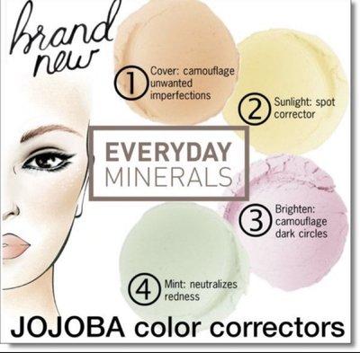 [任三免運]everyday minerals jojoba color corrector brighten礦物質明亮校正粉*超值*四色選則