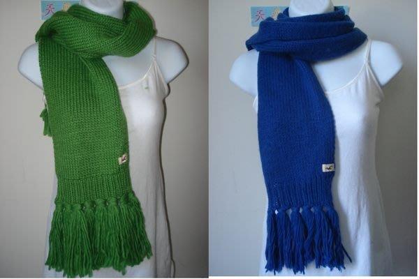 【天普小棧】HOLLISTER HCO knit scarf混羊毛針織圍巾 流蘇圍巾