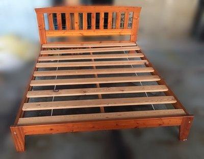 【宏品二手家具館】台中中古傢俱賣場B61302*木色5尺床架* 床板 床底 床箱 中古臥室家具 2手傢俱拍賣