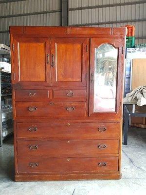 彰化二手貨中心(原線東路二手貨) --- 阿媽收藏 完整漂亮 早期檜木衣櫥 衣櫃