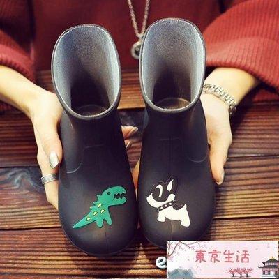 兒童雨鞋防滑男童女童雨靴公主小童小孩寶寶四季幼兒水鞋中童大童【東京生活】