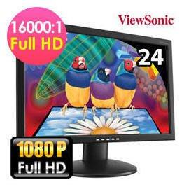 永和 二手 中古 螢幕 viewsonic va2413wm 24吋螢幕  FULL HD 外觀漂亮 (專業液晶維修)