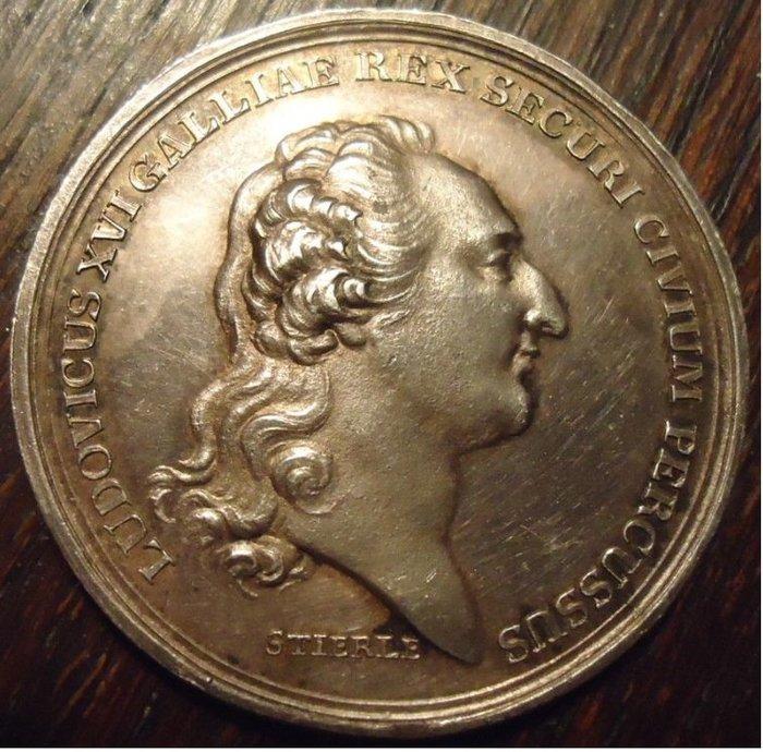法國銀章 1793 France Louis XVI  Silver Medal
