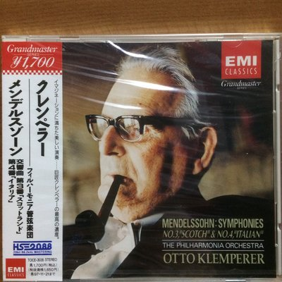 CD Klemperer Mendelssohn: Symphonies Nos.3 & 4 (OBI) (Japan) 全新未拆 (100% Brand Ne