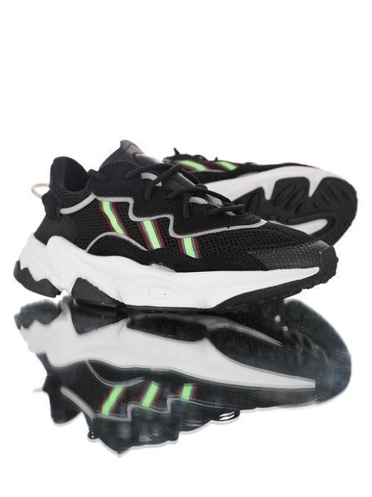 【吉米.tw】ADIDAS ORIGINALS OZWEEGO 黑白綠 老爹鞋 復古 麂皮 男鞋 EE7002 AUG