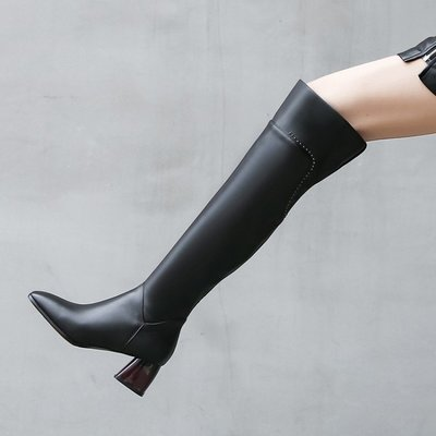 Fashion*瘦腿神器!真皮過膝長靴...