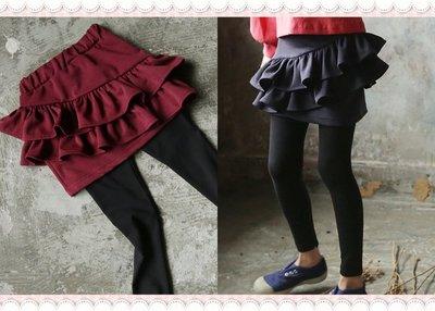 。~ 寶貝可愛 ~。韓國精選bo-bo美式休閒,ROSE FRILL SET UP SKIRT裙褲 17年秋現貨優惠