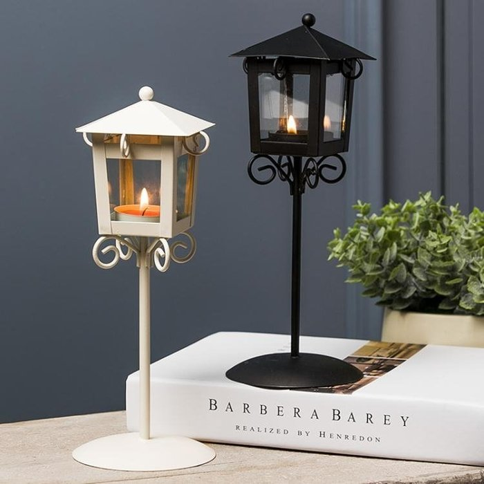 蠟燭台創意燭台擺件蠟燭台家居客廳奶茶店鋪燭光晚餐浪漫復古裝飾品    小寵