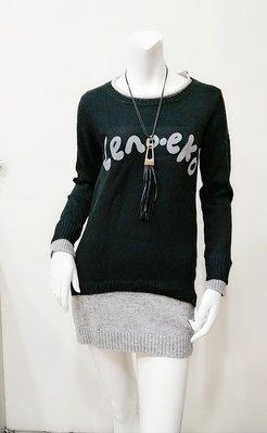 【03】EZZ【+粉有禮】【活動價145】實拍新款&時尚韓味新款女裝打底針織時尚百搭字母長袖連衣裙女