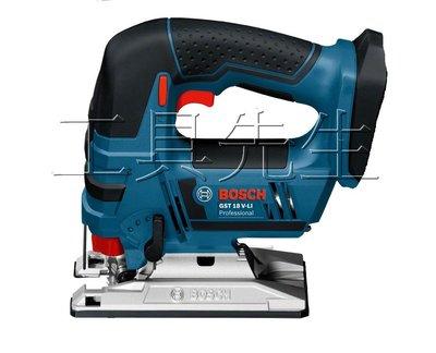 含稅價/GST18V-LI【工具先生】德國 BOSCH 18v 充電式 手提 線鋸機 曲線切割 滑軌式電池 匈牙利製造