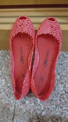 【出清】香港購入 桃紅 洞洞鞋 透氣平底鞋 娃娃鞋