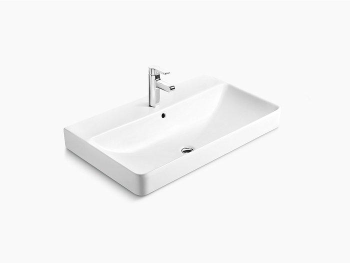 浴室的專家 *御舍精品衛浴 KOHLER Forefront 拂朗系列 長方形上崁盆 時尚臉盆 K-2749T