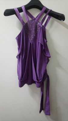 marc jacobs 紫色絲緞背心 6號