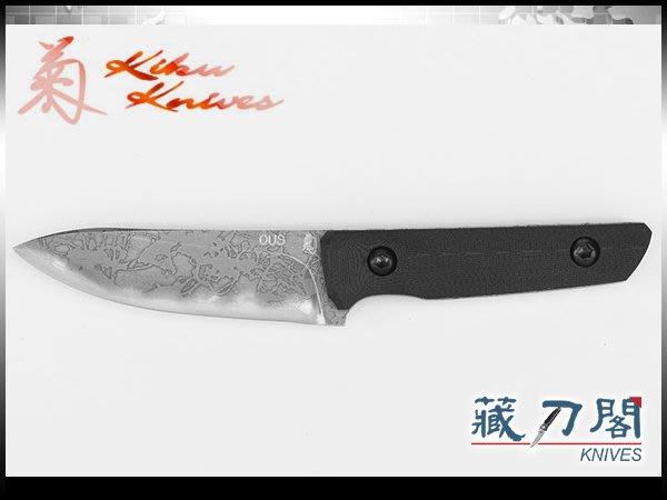 《藏刀閣》松田菊男-(KM-950)EDC NECK-黑G10柄小頸刀(OU-31鋼)