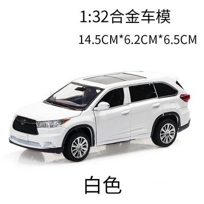阿米格Amigo│1:32 豐田 Toyota Highlander 漢蘭達 六開門 聲光 迴力車 合金車 模型車 預購