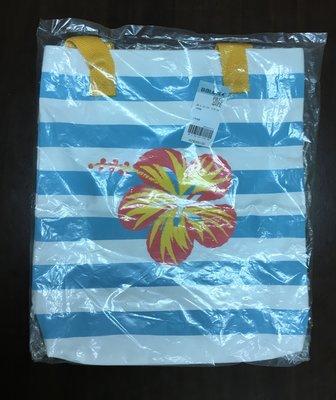 全新 專櫃品牌BALENO 休閒風馬卡龍純棉帆布包 媽媽包 手提側背兩用包 購物袋大包包(土耳其藍,台製品)