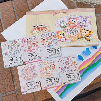 *B' Little World * [現貨]東京迪士尼海洋限定/達菲與好朋友紀念車票/東京連線