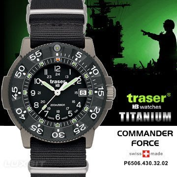 Traser Commander Force軍錶#100284#運動錶 潛水錶 軍錶 手錶  AH03094 JC雜貨
