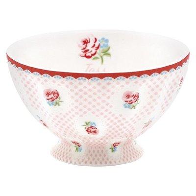 GreenGate French Bowl Tammie Pale Pink - Medium (法式拿鐵碗)