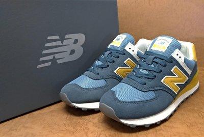 ✩Pair✩ NEW BALANCE 女鞋 麂皮 WL574LDD 藍黃 復古系列慢跑鞋 休閒 流行 百搭 NB