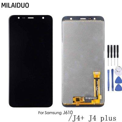 熱賣~現貨~螢幕總成 適用於三星 J4+ J415 液晶總成 J6+ J610 螢幕顯示屏 面板ZOE30005