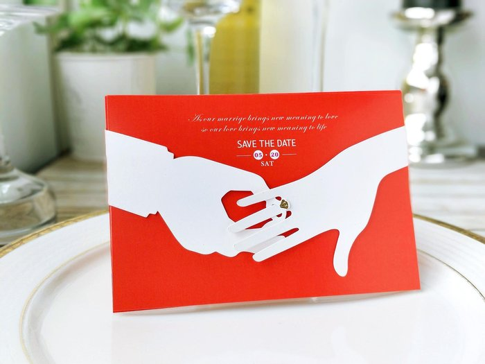 『潘朵菈精緻婚卡』影像設計喜帖 ♥ 時尚創意20元喜帖系列 ♥ 喜帖編號:CH-2860