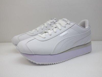 =小綿羊= PUMA TURINA STACKED SNAKE 白淺紫 374142 01 女生 休閒鞋 厚底 小白鞋