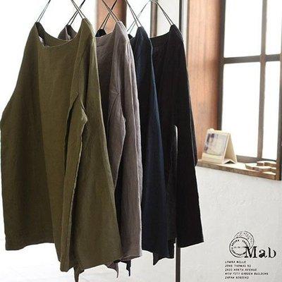 |The Dood Life|日本原祖森系 08Mab  / 五分袖亞麻衫 blouse ichi muji sm2