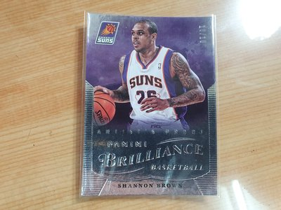 2012-13 Brilliance 太陽 Shannon Brown 限量10張 尾號
