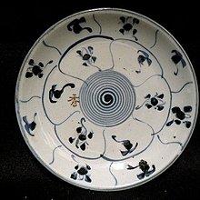 【 金王記拍寶網 】H509  清代青花紋紋盤 罕見稀少 (保證到代老品)  一件