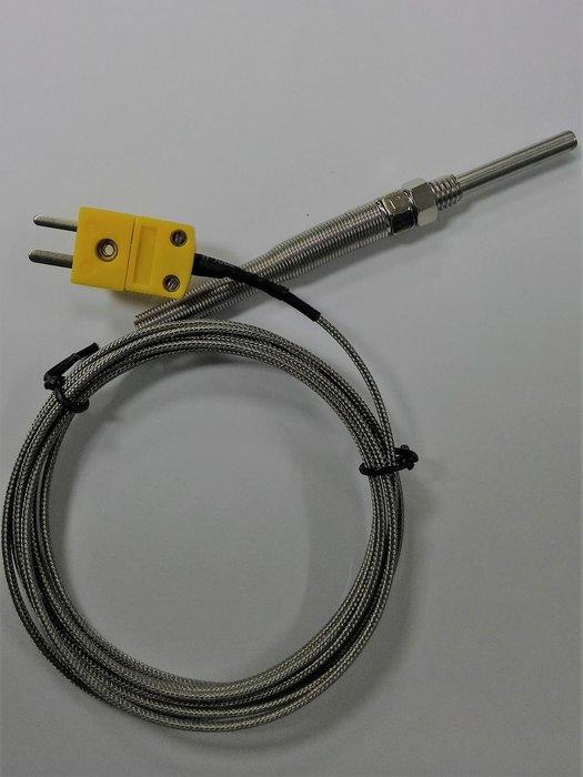 K型熱電偶 探頭:3公分 線長2M 測溫範圍~40~ 1024℃ 溫度記錄器 溫度計 TE
