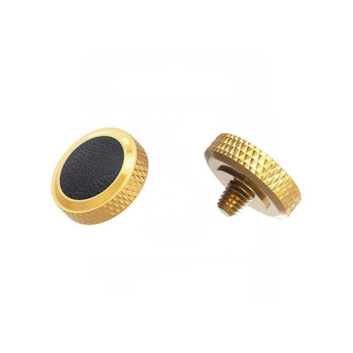 【傑米羅】JJC 機械相機 螺牙式 快門按鈕 增高鈕《純銅製 豪華版》(SRB-DGD 金框黑皮) - 帶防脫圈 防鬆脫