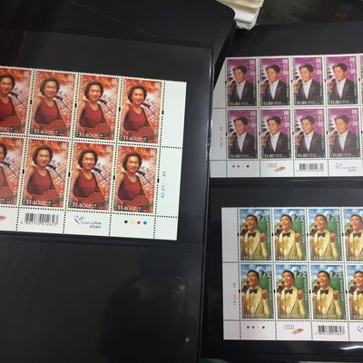 香港2005年 流行歌星紀念郵票 10方連