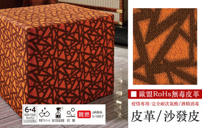 【LondonEYE】日本優質人造皮革/沙發皮/繃皮板 • 現代幾何/豐富純色 疫情專用/耐次氯酸 歐盟RoHs測試數據