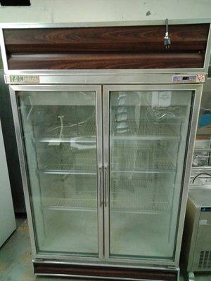 餐飲設備【築家設備寄賣中心】氣冷 雙門玻璃冰箱 促銷