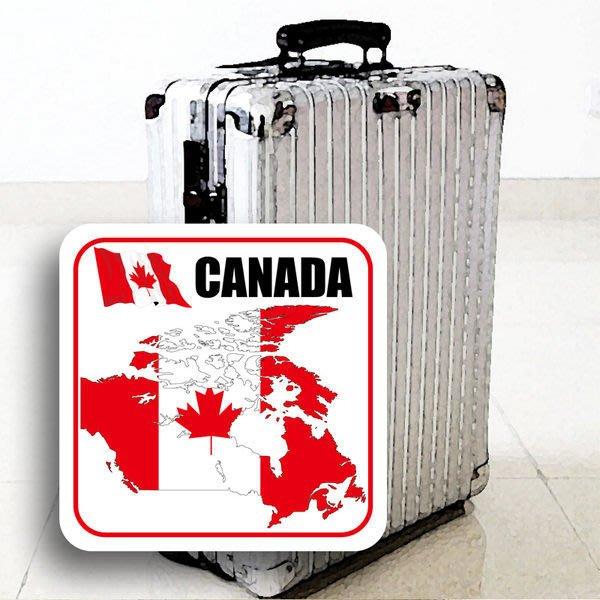 【國旗貼紙專賣店】加拿大國旗領土防水、抗UV行李箱貼紙/多尺寸、各國都有客製
