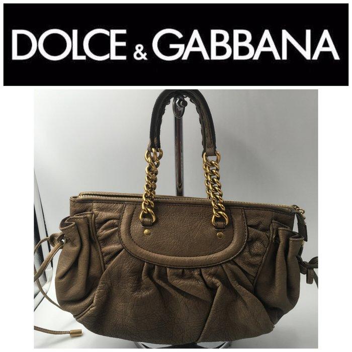【皮老闆二店】樂1928 二手真品 DOLCE & GABBANA 手提包 斜背包 FFF