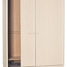 【DH】貨號T4714經典(生活傢)木心板5X7拉門衣櫃 含內鏡 ,胡桃色白橡木色柚木色山毛櫸色五色可選擇。台灣製特價中