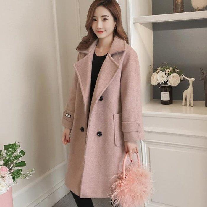 外套 女 呢子外套女中長款韓版新款秋冬裝學生呢子大衣女赫本風流行季 igo