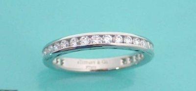 [超優惠 國際圍#7]Tiffany Diamond Wedding Band鑽石 全環 線戒 婚戒