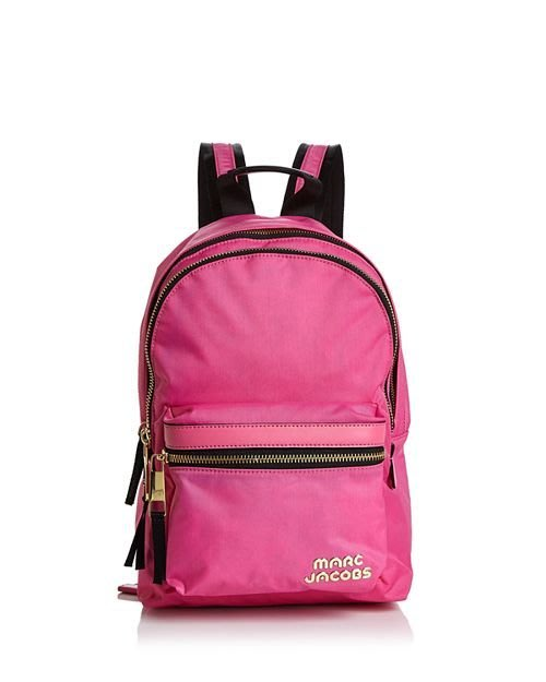Coco 小舖 MARC JACOBS Trek Pack Medium Backpack 桃紅色尼龍後背包