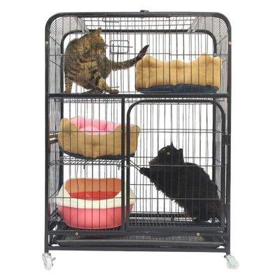 猫笼子猫别墅双层三层特价猫舍猫窝家用带厕所大号猫咪房子宠物笼