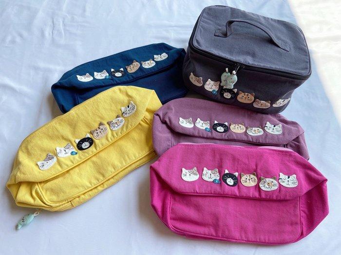 日本卡拉貓~卡拉家族盥洗包 化妝包 小野餐袋